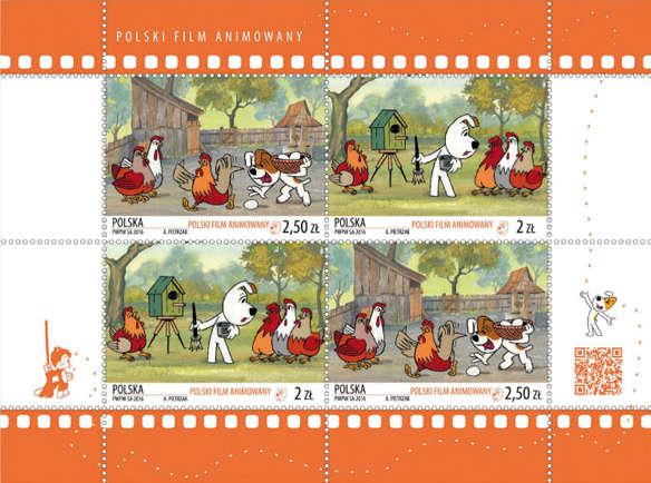 Reksio na znaczku pocztowym