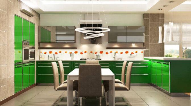 Wady i zalety paneli szklanych w kuchni